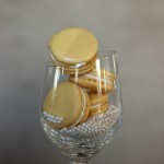 Mimosa French Macarons // DelectableBakeHouse.com