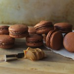 Peanut Butter Chocolate French Macarons // DelectableBakeHouse.com