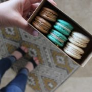 box of french macarons